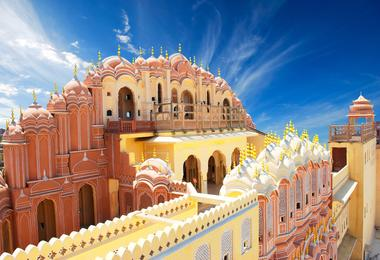 The colourful Palace of Winds in Jaipur