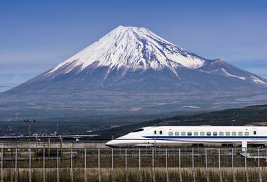A Japanese bullet train