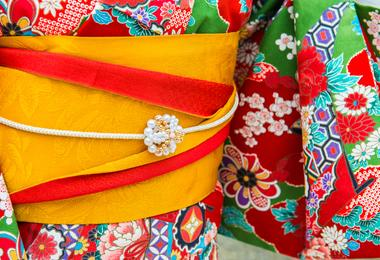 A Japanese kimono