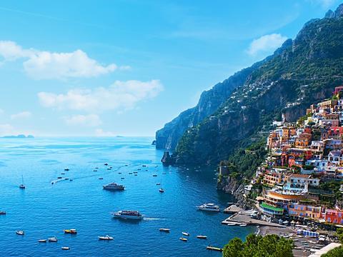 The village of Positano on Italy's Amalfi Coast