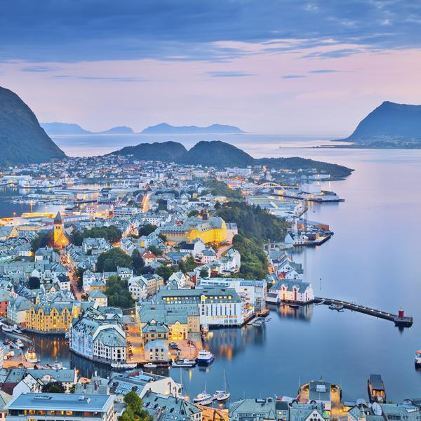 The town of Alesund in Norway