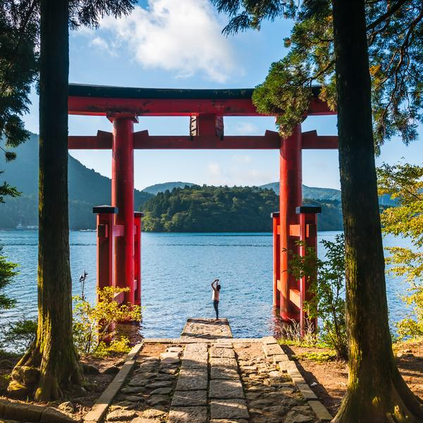 Torri gate in Hakone in Japan