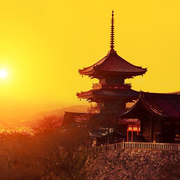 Kiyomizu-dera temple in Kyoto in Japan