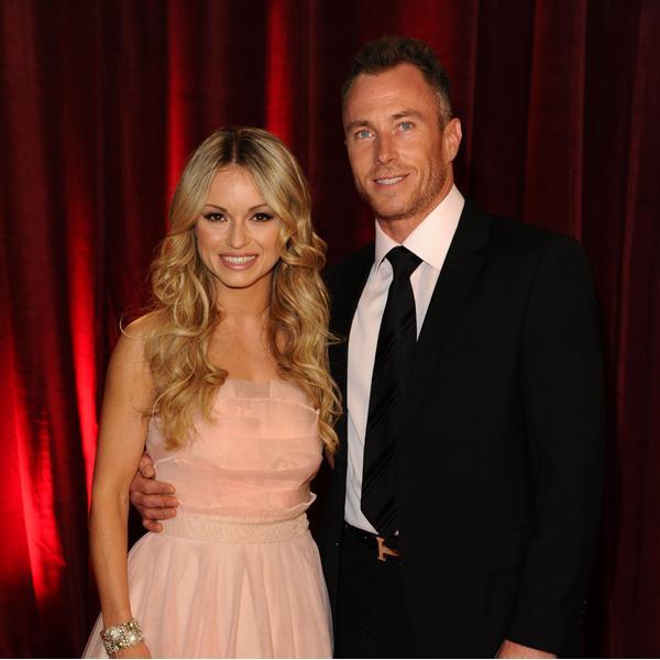 Former Strictly dancers James and Ola Jordan pose together