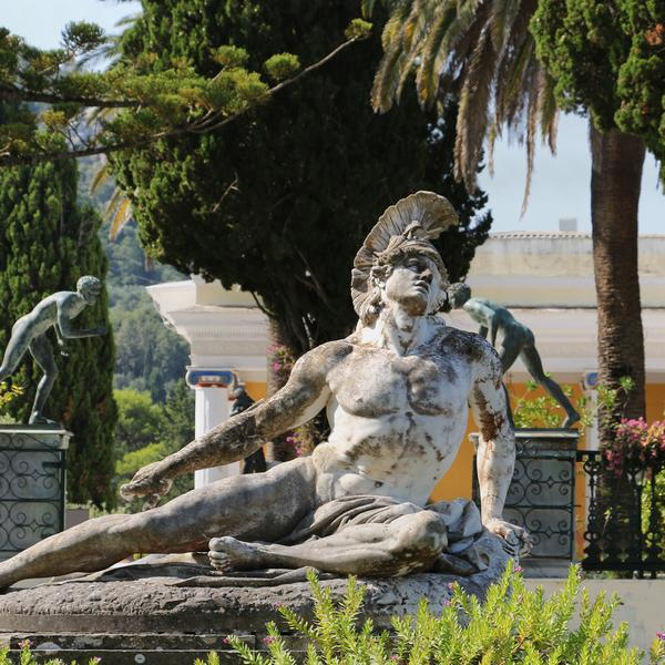 Statue of dying Achilles on Corfu