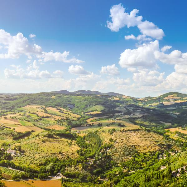 A landscape in Tuscany in Italy