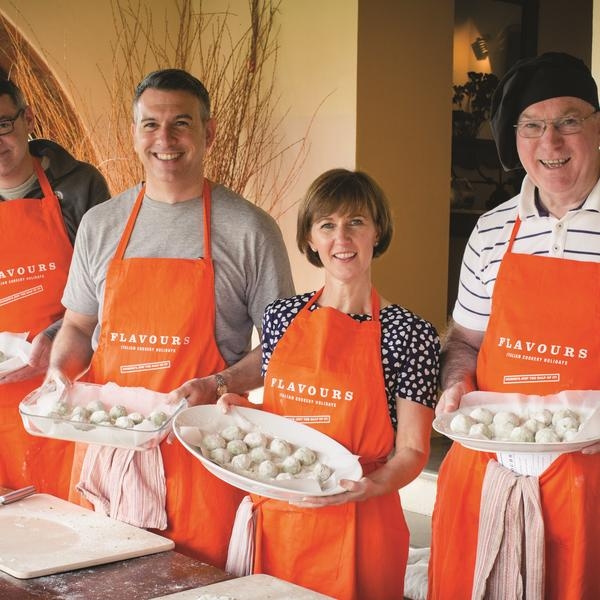 Amateur chefs enjoying a Flavours Holidays trip to Italy