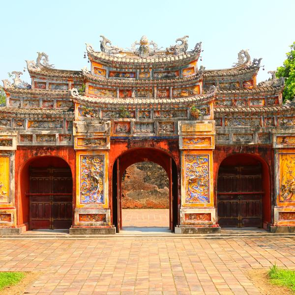 Gate of the Forbidden City at Hue