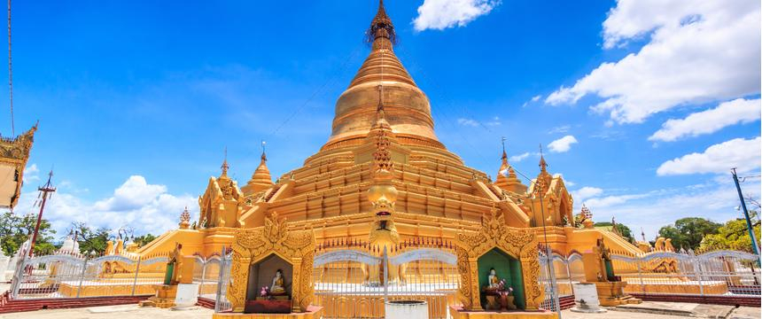 Kuthodaw Pagoda in Myanmar