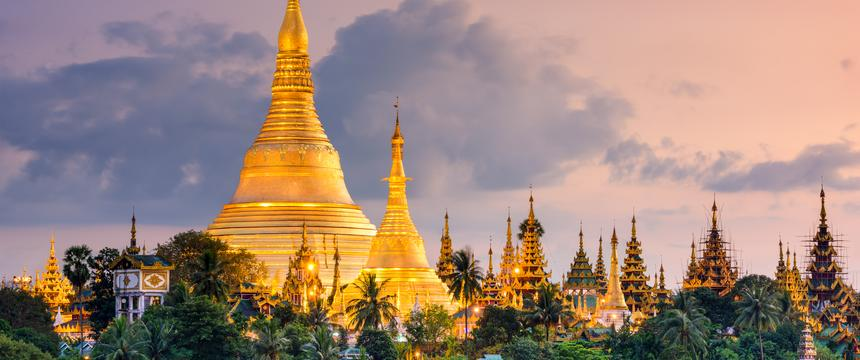 Shwedagon Pagoda in Yangon in Myanmar
