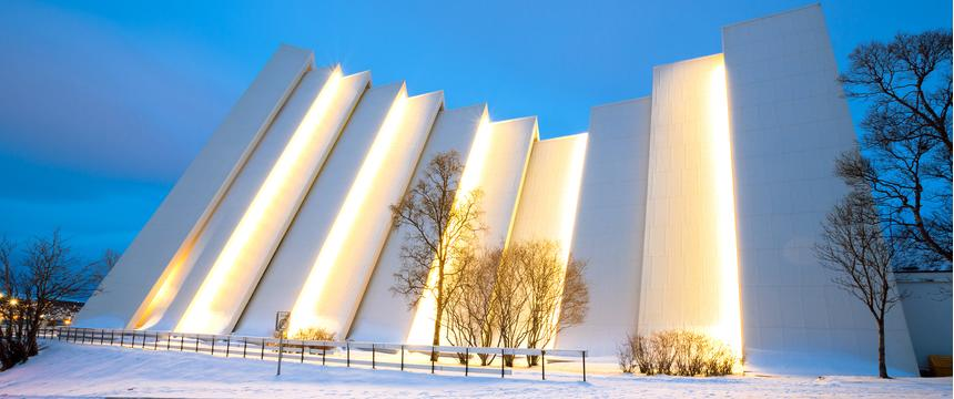 The Arctic Cathedral in Tromso