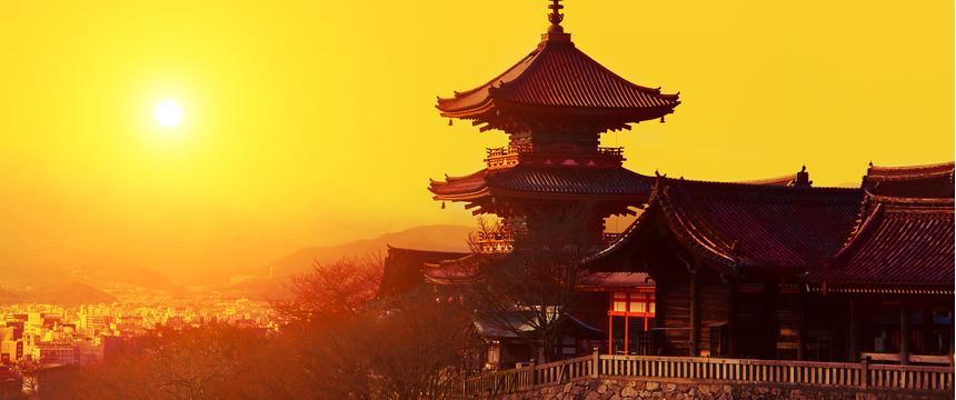 Kiyomizu Temple in Kyoto, Japan
