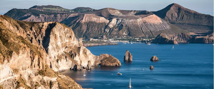 Aeolian volcanic island cluster, Lipari, Italy