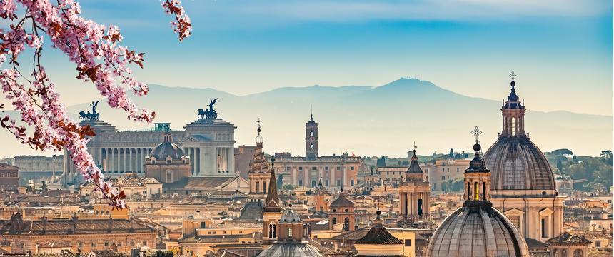 Rome skyline view