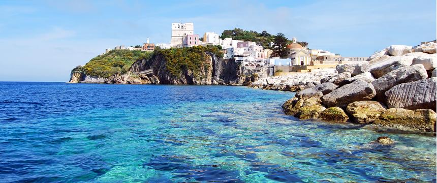 The crystal clear waters of Ponza, Italy