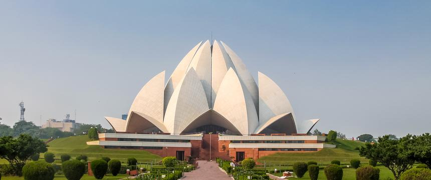 A view of the Lotus Temple in New Delhi, which is a Bahai House of worship